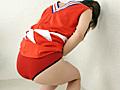 チア娘の濡れた赤パンツ