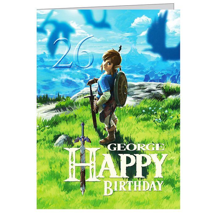 The Legend Of Zelda Breath Of The Wild Personalised Birthday Card A5 On Ebid Ireland 170501852
