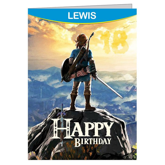The Legend Of Zelda Breath Of The Wild Personalised Birthday Card A5 On Ebid Ireland 170501867