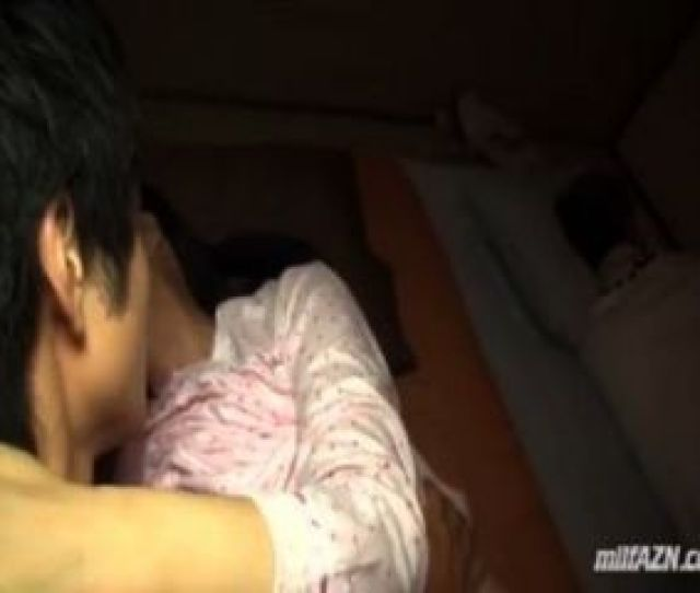 Mature Woman Sucking Young Guy Fucked While Her Husband Sleeping Next To Them In
