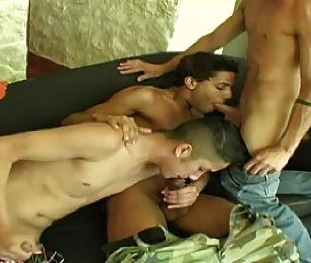 Three Sweet Raunchy Boys Having A Blowjob Cocktail Party