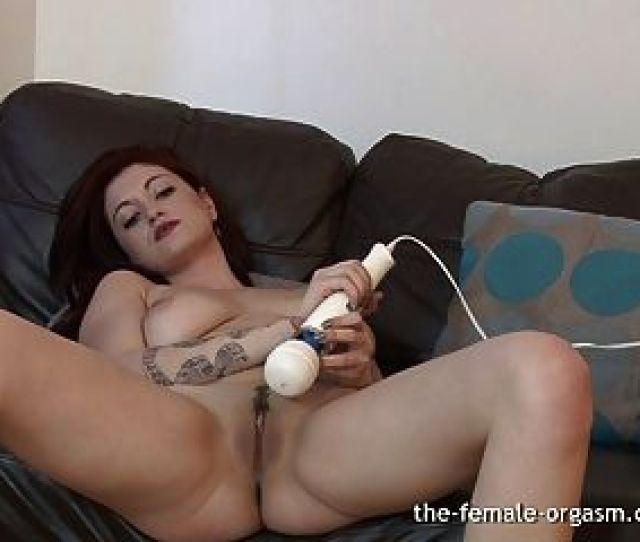Big Natural Breasts And Horny Masturbation To Several Orgasm