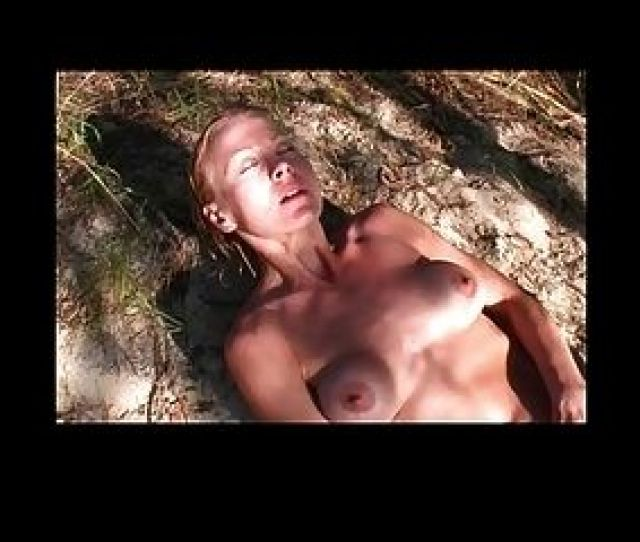 Nudist Masturbating On Sand