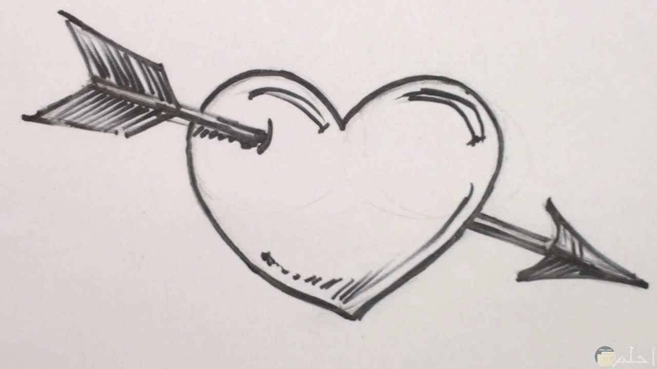 رسم بالرصاص حب سهل