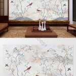 Chinese Ink Landscape Painting Marble Background Living Room Tv Wall Design Decors 3d Models Psd Free Download Pikbest