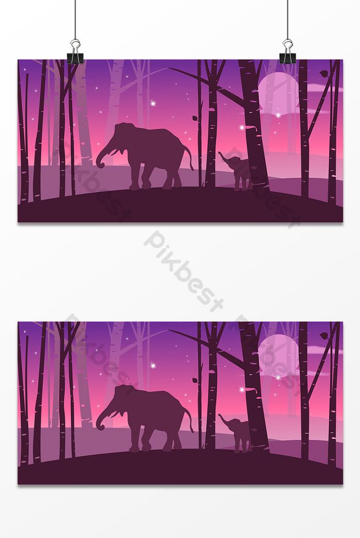 浪漫動物大象設計背景圖| PSD 背景素材免費下載 - Pikbest