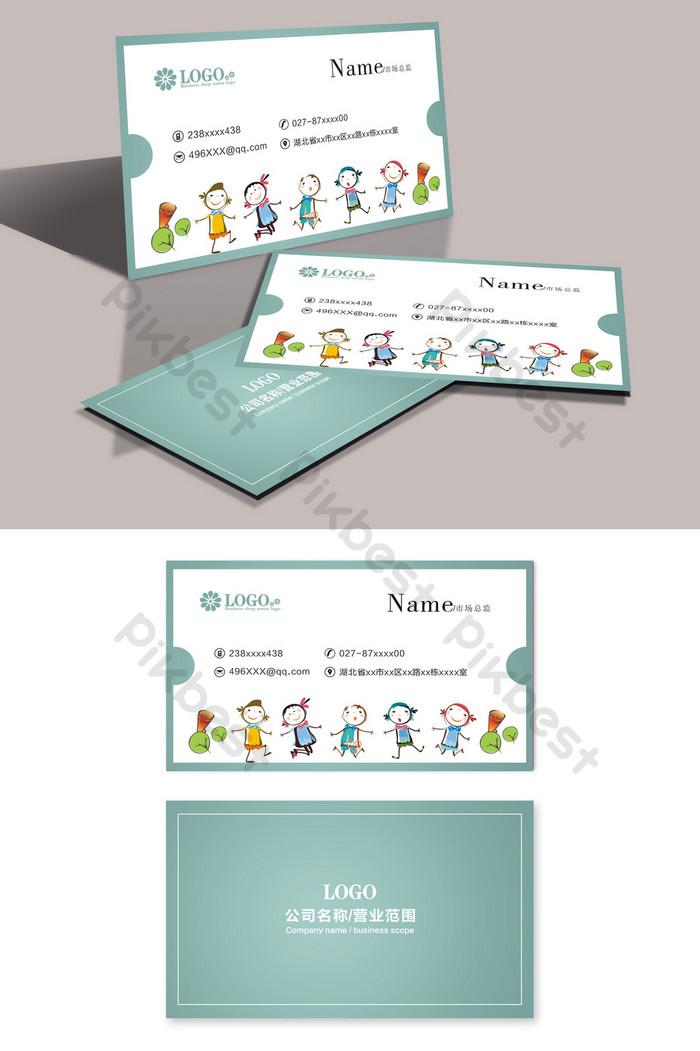 Desain Kartu Nama Tk Kartun Yang Canggih Templat Cdr Unduhan