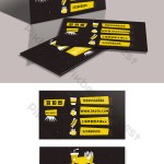 Creative Fast Food Restaurant Simple Illustration Business Card Design Ai Free Download Pikbest