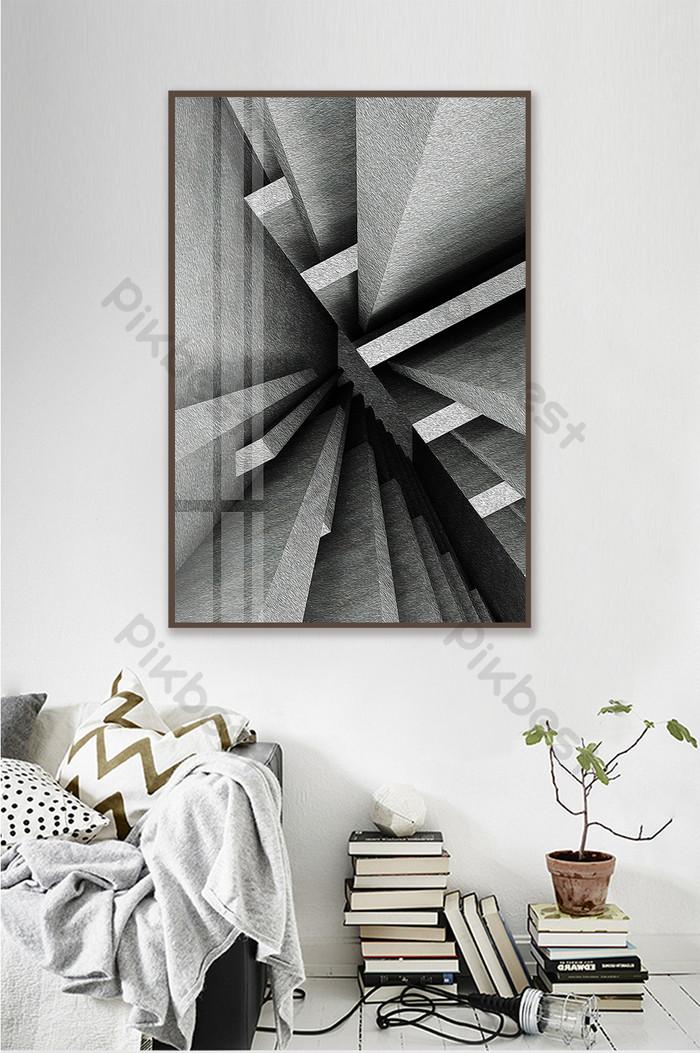 Lukisan Industri Ruang Lukisan Dekorasi Rumah Sederhana Hitam Dan
