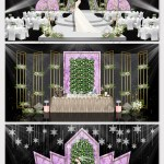 Modern Simple Purple Marble Flower Theme Wedding Effect Picture Decors 3d Models Psd Free Download Pikbest