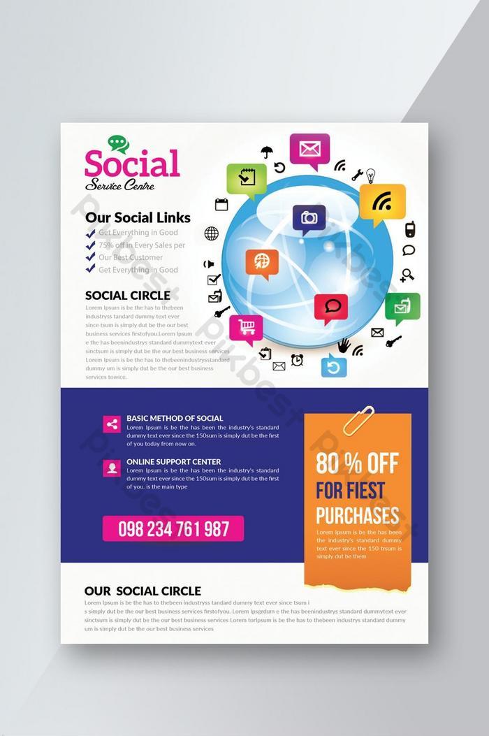 Spread Your Business Worldwide Digital Marketing Flyer Psd