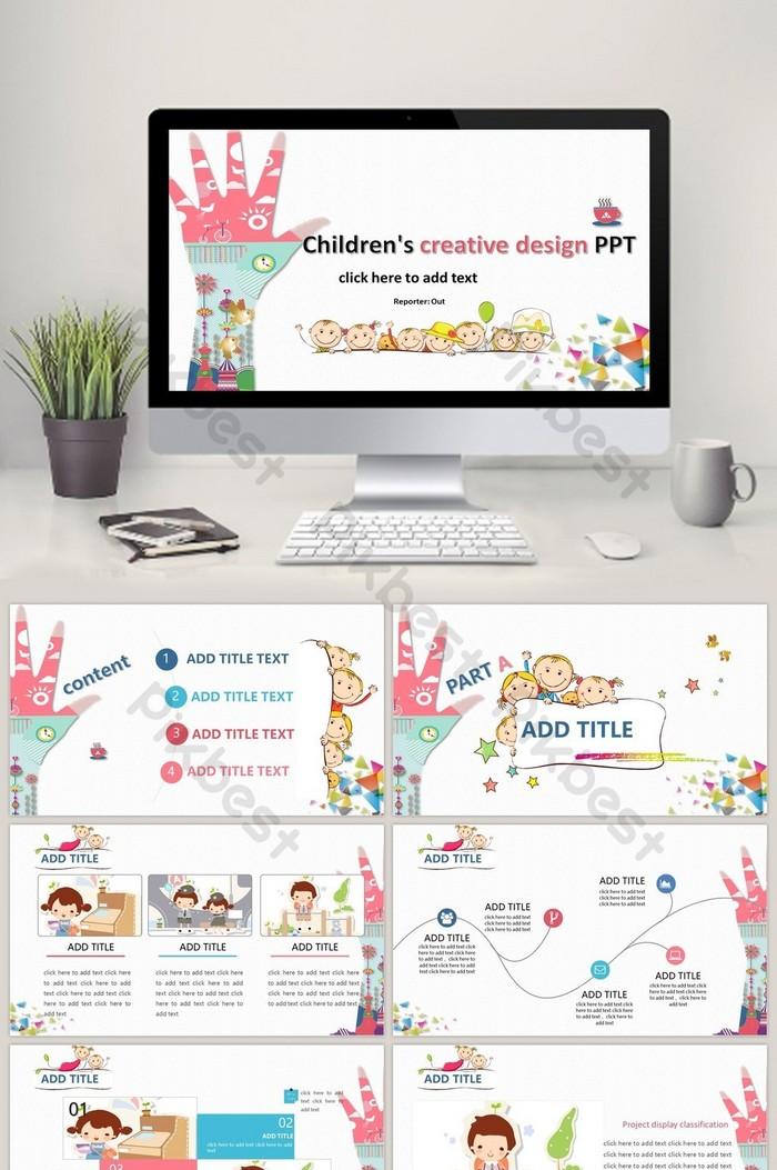 Creative Children S Simple Fresh Cute Ppt Template