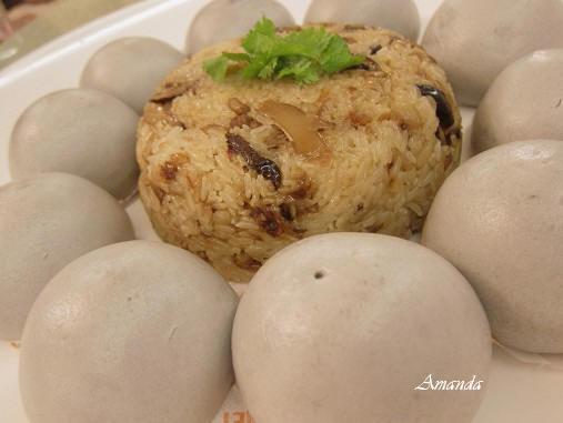紅蟳餐廳-油飯芋泥包.JPG