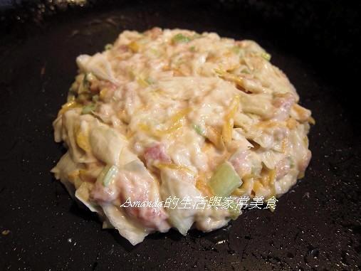 蔬菜煎餅-下鍋