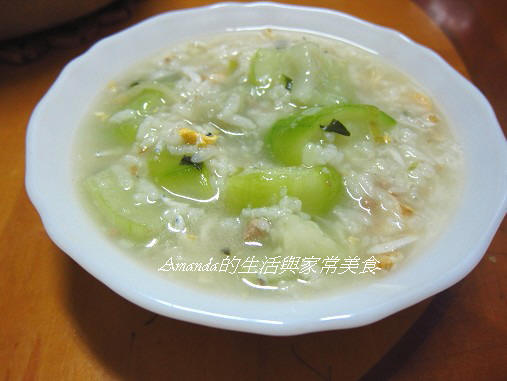 絲瓜魩魚粥