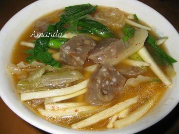泡菜芋粿湯