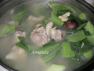 干貝芥菜雞湯