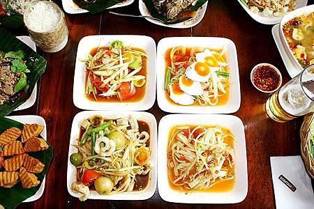 曼谷美食推薦 人氣東北小吃青木瓜沙拉專賣店 2018新開Central World百貨分店