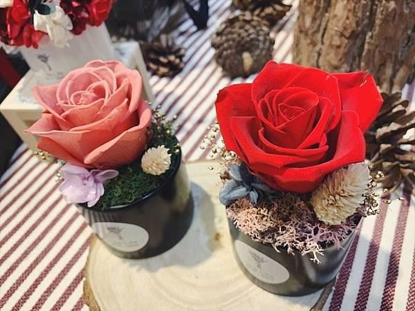 母親節花束推薦,單朵永生玫瑰花盆栽.母親節永生花盆栽JPG