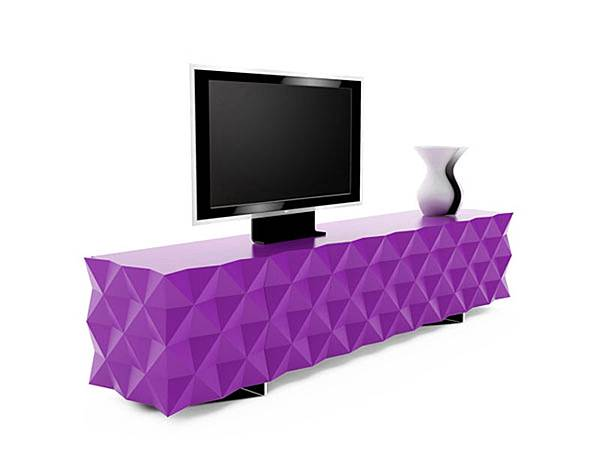 Cute-purple-with-unexpected-texture-inside-the-TV-stand