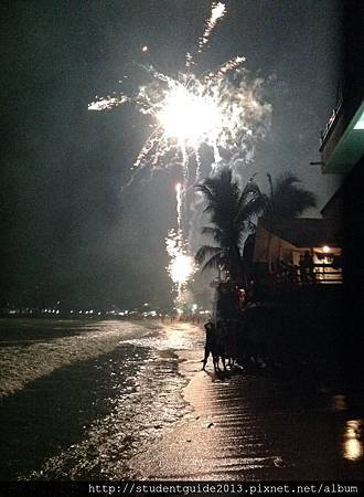 new year fireworks in El Nido