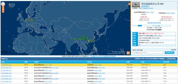 利用 Google 查詢飛機起降與飛行資訊 flight-aware