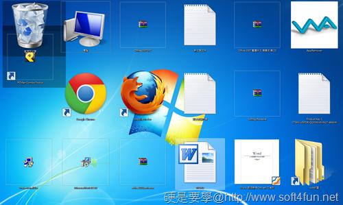 自由變更 Windows7 桌面圖示大小(免軟體) Windows7-