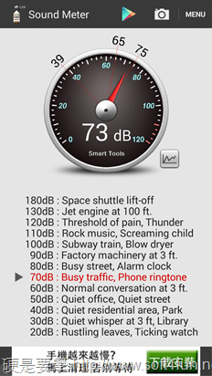 用手機APP測環境噪音的聲級計 Sound Meter(手機分貝計) 2014-02-18-07.56.57