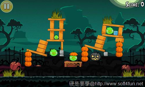 [Android遊戲] 憤怒鳥萬聖節版,有新的「橘鳥」唷~Halloween! _-06