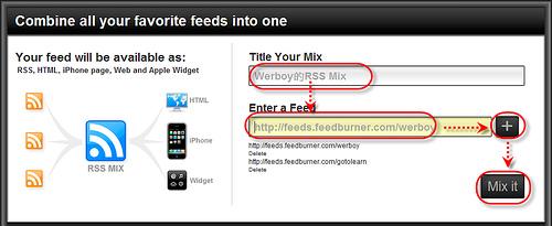 [網站推薦] 究極RSS合體術!不管你有多少個RSS,全部幫你合而為一 - RSSMixer 1050298441_f744188421