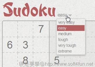 線上數獨(Sudoku)殺時間練腦力還可以跟朋友對盤PK喔!(免下載) -02