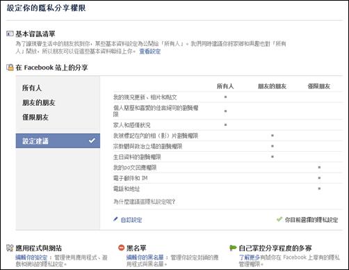 認識新版 Facebook 隱私設定(精華版) Facebook01