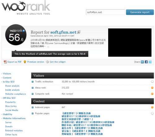 網站排名、分析、SEO 綜合評分工具 seowoorank_thumb