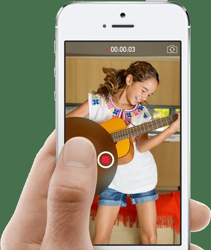 ios 8 新功能-訊息-快速傳送影片
