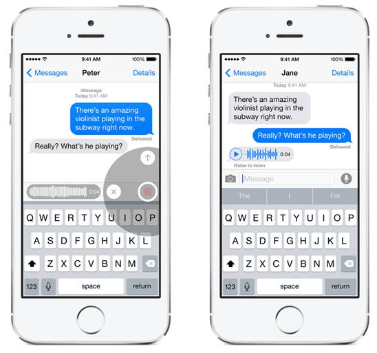 iOS 8 訊息功能推出傳送語音、分享即時位置,並可建立對話群組 ios-8---talk-to-talk