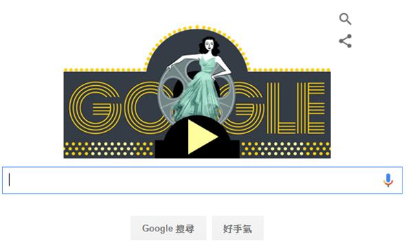 [Google Doodle] Hedy Lamarr 好萊塢女星與秘密通訊/展頻技術發明人101歲誕辰 Hedy-Lamarr