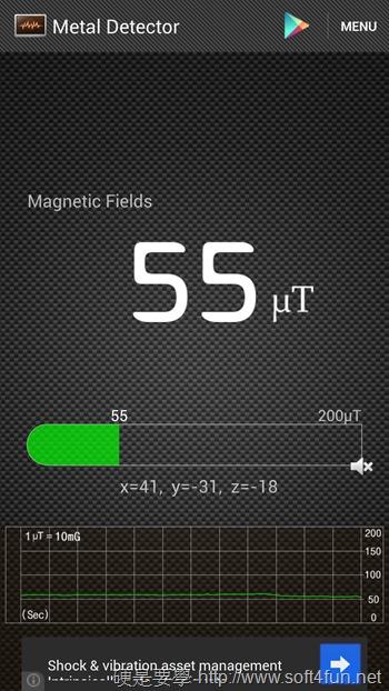 Metal Detector手機變成金屬探測器(Android) Screenshot_2013-09-03-21-45-22_1091247