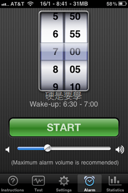 [iPad/iPhone] Sleep Cycle Alarm Clock:紀錄分析睡眠品質 clip_image016