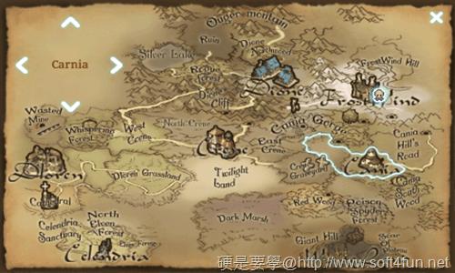 [Android遊戲] iOS 移植強檔大作:Inotia 3: Children of Cania 官方中文版[update] map