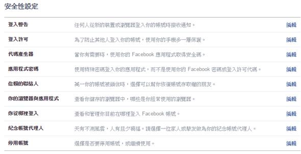 [功能整理] Facebook 帳號與隱私設定目錄大全 facebook02