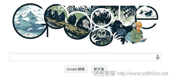 Google 首頁塗鴉:Dian Fossey 美國動物學家 82 歲誕辰 Dian-Fossey