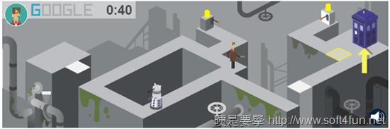 Google 首頁塗鴉:Doctor Who 英國科幻電視影集上映50週年 doctor-who-02