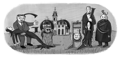 [Google Doodle] 查理.亞當斯《阿達一族》創作者100歲誕辰 5f534e0ddba0