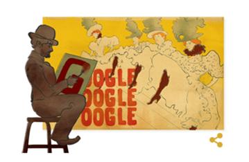 [Google Doodle] 蒙馬特之魂 Henri de Toulouse Lautrec 羅特列克冥誕紀念 image