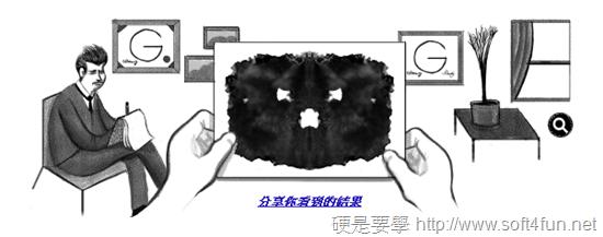 Google首頁塗鴉:Hermann Rorschach 瑞士心理學家129歲誕辰 Hermann-Rorschach