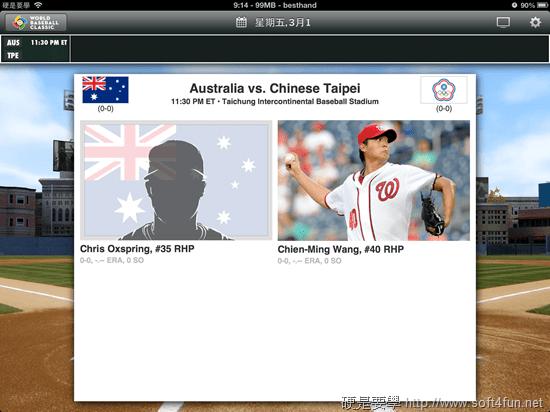 [WBC] 世界棒球經典賽官方 App,轉播、分析、賽程、計分表,完整賽事一手包 gameday_info