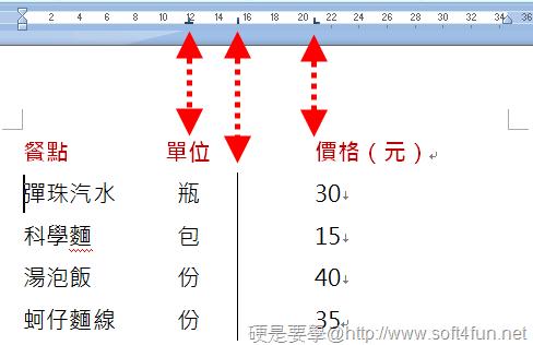 [Word技巧] 運用「定位點」搞定文件裡對不齊的文字 -10