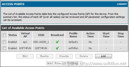 享受流暢網路的快感 D-Link DSR-1000N SSID
