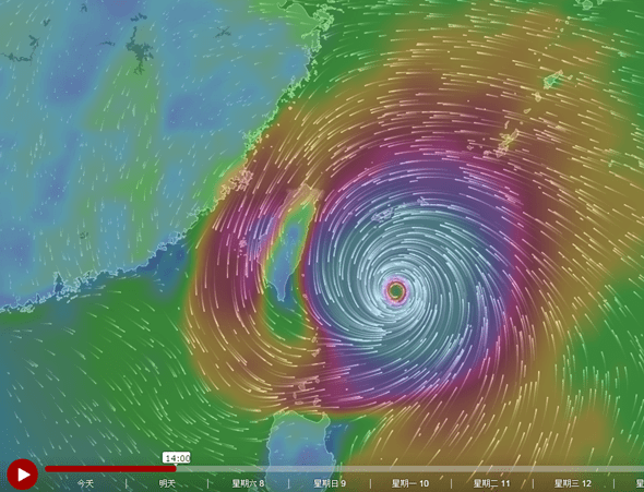 Windytv動態天氣圖,各種天氣、洋流資訊一看就懂 windyty01
