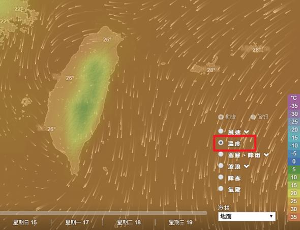 Windytv動態天氣圖,各種天氣、洋流資訊一看就懂 windyty04